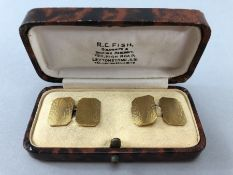 Pair of Boxed 9ct Gold 375 Cufflinks (approx 5.7g)
