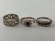 Collection of three vintage rings