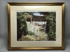 VERONICA CHARLESWORTH: Two framed limited edition prints, Amalfi Terrace and Rio Delle Terese