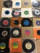 Collection of Vinyl 45's / singles to include 10 CC, The Dave Clarke Five, Joan Baez etc