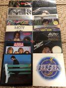 16 SEVENTIES ROCK / POP LPs inc. albums by Grand Funk Railroad, Santana, Mott The Hoople, Bad