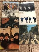 "7 THE BEATLES LPs inc. ""Revolver"" (UK mono orig Parlophone PMC 7009), ""Help"" (UK mono orig"