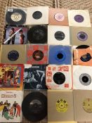 Collection of Vinyl 45's / singles to include Fleetwood Mac, Beatles, Elvis Presley, Three Degrees