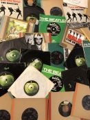 """60 The Beatles & Related 7"""" singles & EPs including many original Apple and Parlophone pressings"""