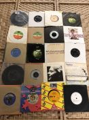 Collection of Vinyl 45's / singles to include the Beatles, George Harrison, Elvis Presley,