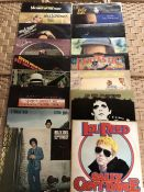 """17 SEVENTIES ROCK / POP LPs inc. albums by Lou Reed """"Transformer"""" and """"Sally Can't Dance"""", Elton"""