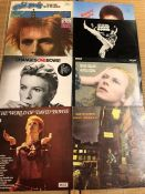 """8 David Bowie LPs including """"The Man Who Sold The World"""" orig US pressing with cartoon sleeve ("""