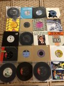 Collection of Vinyl 45's / singles to include Al Green, The Beatles, Joe Brown, Cat Steven,