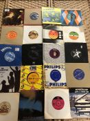 Collection of Vinyl 45's / singles to include Ringo Starr, Dave Edmonds, Elvis Costello, Roxy