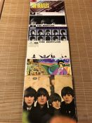 """6 The Beatles LPs. Including """"Help"""", """"A Hard Day's Night"""", """"Please Please Me"""" and """"With The Beatles"""""""
