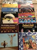 """14 ROLLING STONES LPs inc. """"Exile On Main Street"""", """"Big Hits High Tide & Green Grass"""", """"Still Life"""","""