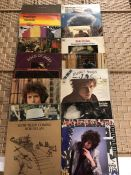 """18 Bob Dylan / The Band LPs inc. """"The Band"""", """"Basement Tapes"""", """"Before The Flood"""", """"Stage"""