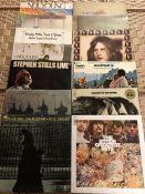 "13 Neil Young / Crosby, Stills & Nash / Byrds / Woodstock LPs inc. ""Déjà Vu"", ""Neil Young"", """