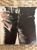 """1 ROLLING STONES """"Sticky Fingers"""" LP (UK orig with zipper sleeve with insert COC 59100)"""