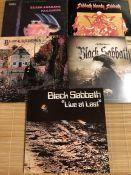 "5 Black Sabbath LPs including ""Black Sabbath"", ""Paranoid"", ""Sabbath, Bloody Sabbath"", ""Live At Last"""