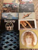 "11 THE WHO / ROGER DALTREY LPs inc. ""My Generation"" (UK mono orig Brunswick LAT 8616 damaged"
