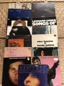 """15 US Folk / Singer Songwriter LPs inc. albums by James Taylor """"S/T"""" (UK mono orig APCOR 3 orange"""