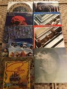 Various albums by Gillan Glover, Black Sabbath, Rolling Stones, Beatles and a Whitesnake picture