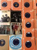 """25 The Rolling Stones 7"""" singles and EPs including many Decca label original pressings."""