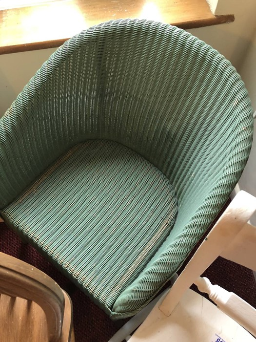 Three chairs to include a Lloyd Loom - Image 3 of 5