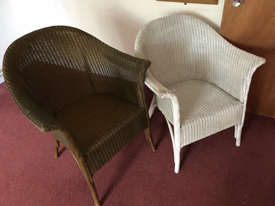 Two Lloyd Loom style chairs - Image 2 of 4