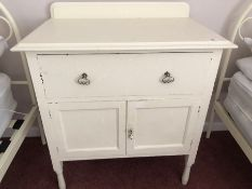 Wooden white painted dressing table (bed 5)
