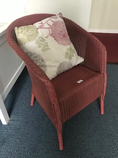 Lloyd Loom chair with cushion (bed 8)