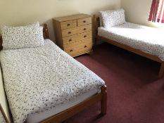 Pair of pine single beds