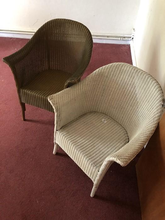 Two Lloyd Loom style chairs