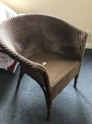 Lloyd Loom style chair (bed 10)