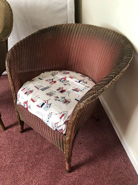 Two Lloyd Loom chairs (bed 1) - Image 4 of 4