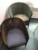 Two Lloyd Loom style chairs (bed 4)
