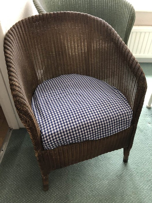 Two Lloyd Loom style chairs (bed 4) - Image 2 of 3