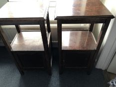 Pair of oak bedside cabinets (bed 2)