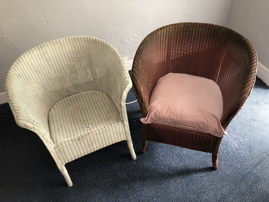 Two Lloyd Loom style chairs (bed 6)