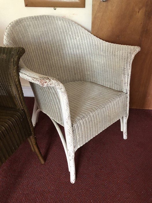 Two Lloyd Loom style chairs - Image 4 of 4