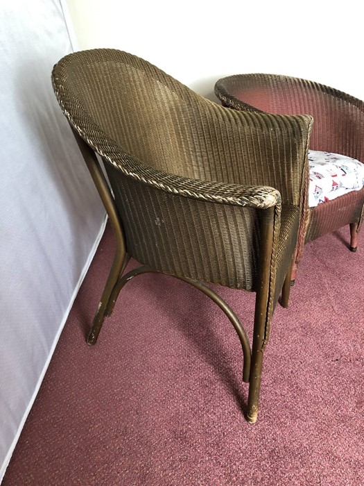 Two Lloyd Loom chairs (bed 1) - Image 3 of 4