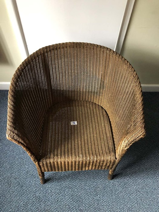 Lloyd Loom style chair (bed 10) - Image 2 of 2