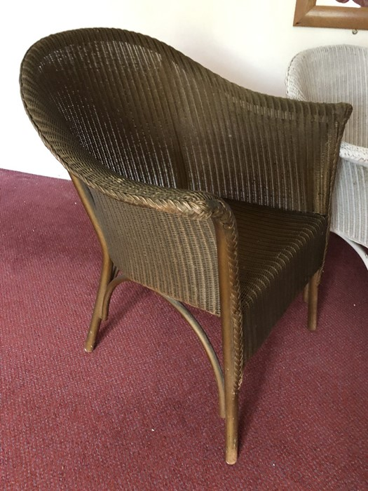 Two Lloyd Loom style chairs - Image 3 of 4
