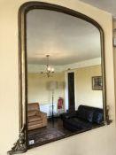 Gilt framed over mantle mirror, approx 127cm x 121cm