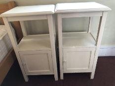 Pair of white painted bedside cabinets (bed 7)