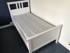 Modern white painted single bed (bed 8)