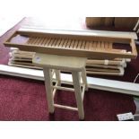 Wooden stool and a bath rack/bottle holder (bed 19)
