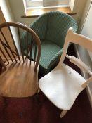 Three chairs to include a Lloyd Loom
