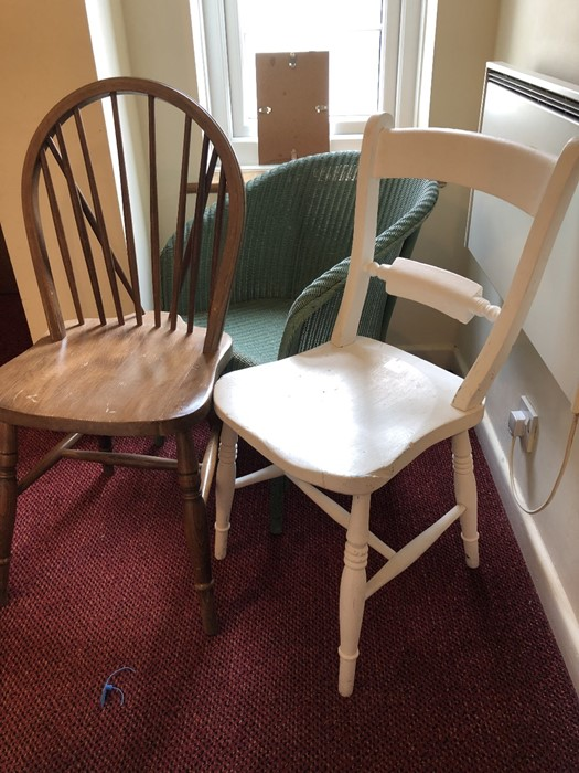 Three chairs to include a Lloyd Loom - Image 5 of 5