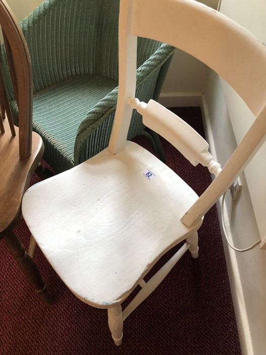 Three chairs to include a Lloyd Loom - Image 2 of 5