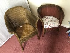 Two Lloyd Loom chairs (bed 1)