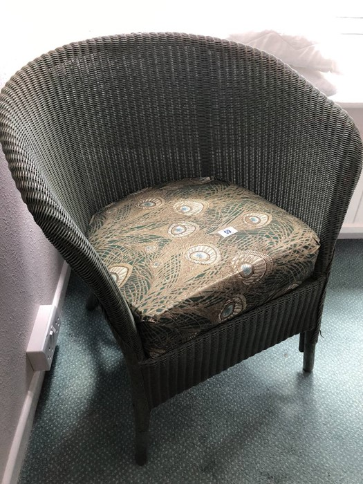 Two Lloyd Loom style chairs (bed 4) - Image 3 of 3