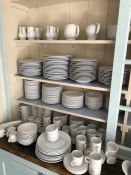 Very large collection of white dinner and breakfast ware, mostly by Churchill