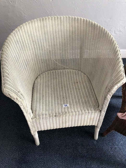 Two Lloyd Loom style chairs (bed 6) - Image 2 of 3